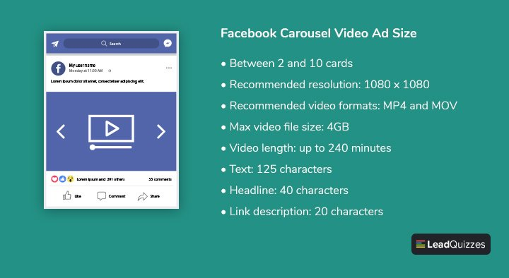 Facebook Carousel Video Ad Size