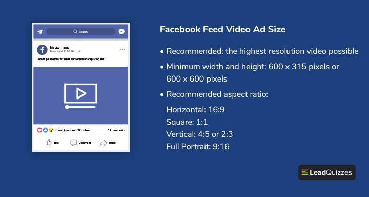 Facebook Feed Video Ad Size 1