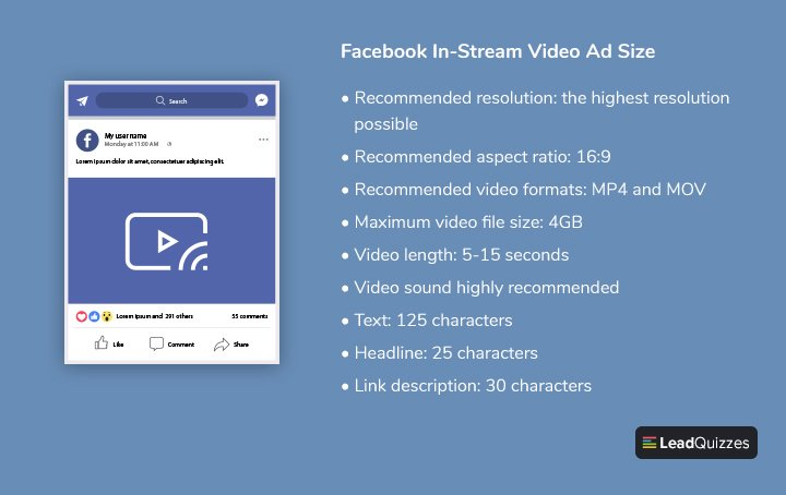 Facebook In-Stream Video Ad Size