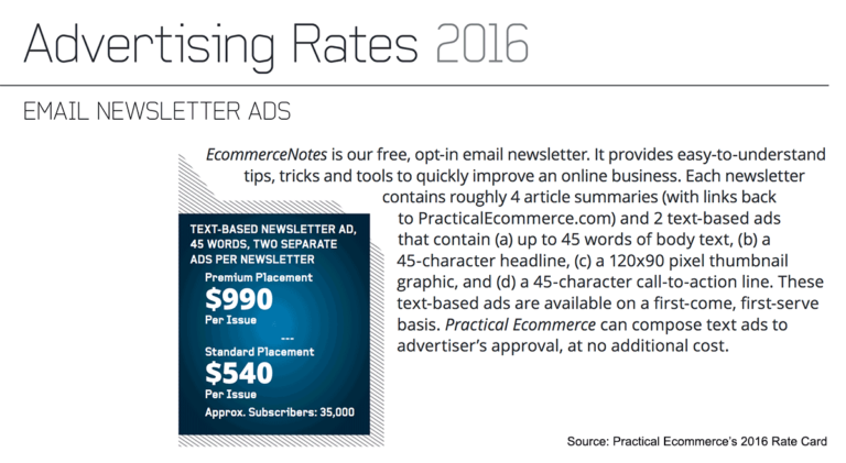 Email list monetization