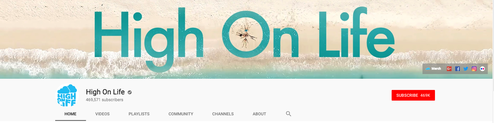 YouTube banner for High on Life channel