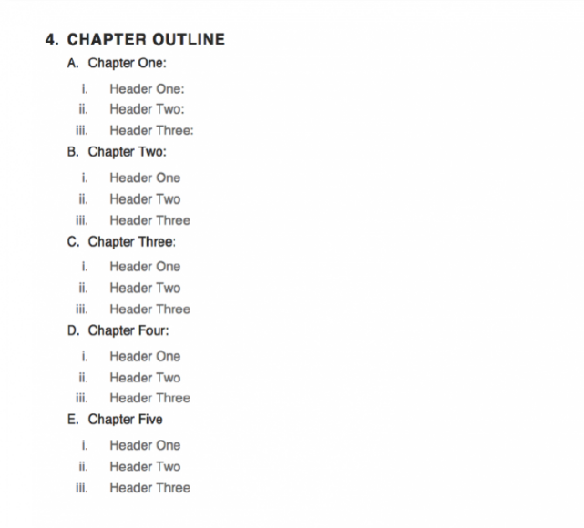 eBook template chapters