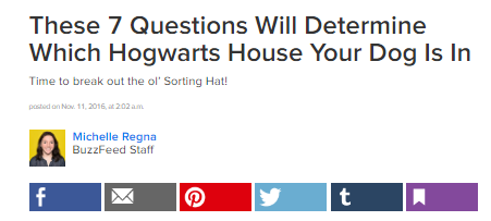Buzzfeed Quiz Which Hogwarts House is Your Dog in