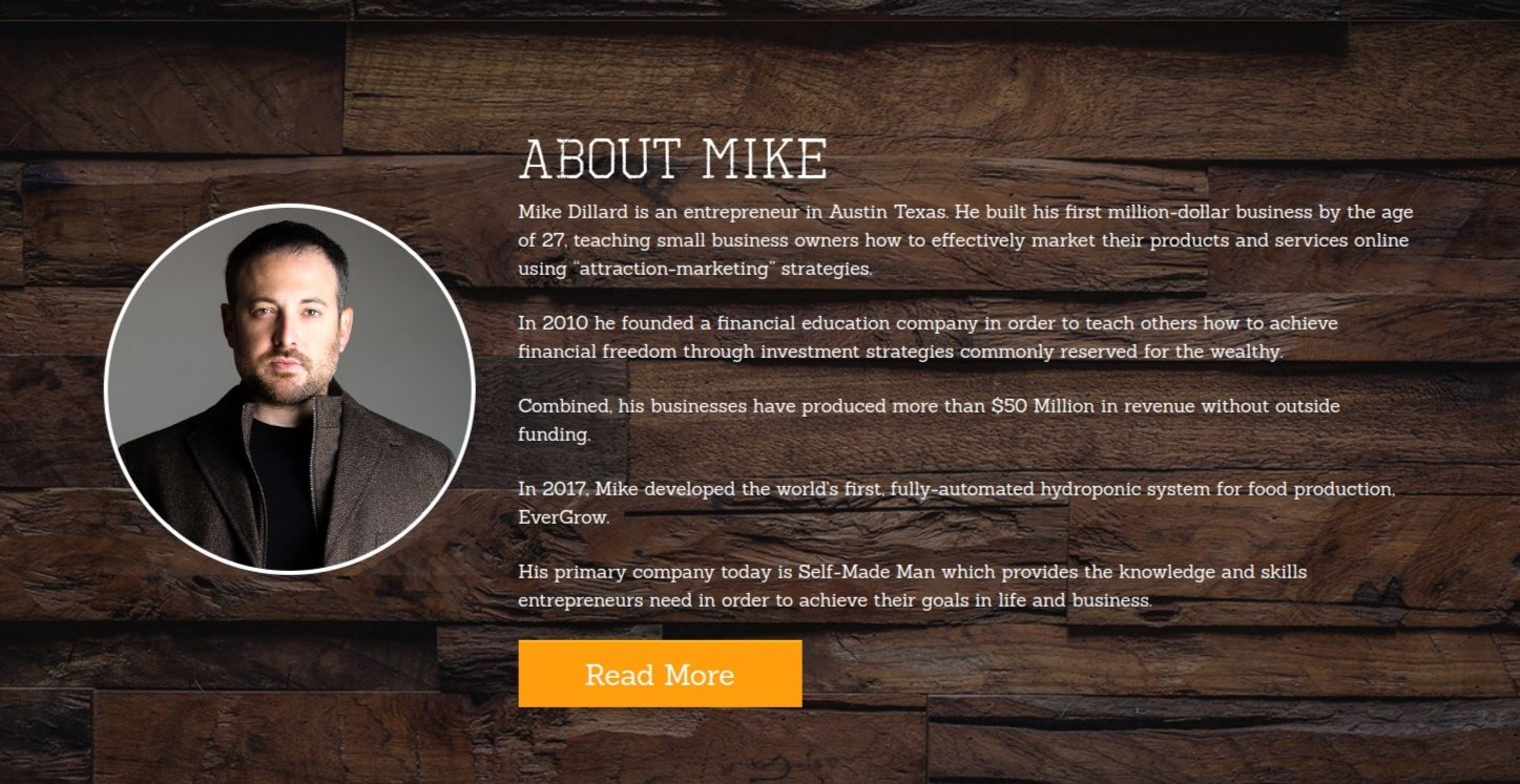 mike dillard mentoring website