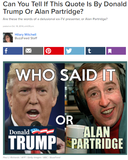 Buzzfeed Quiz Donald Trup Alan Partridge