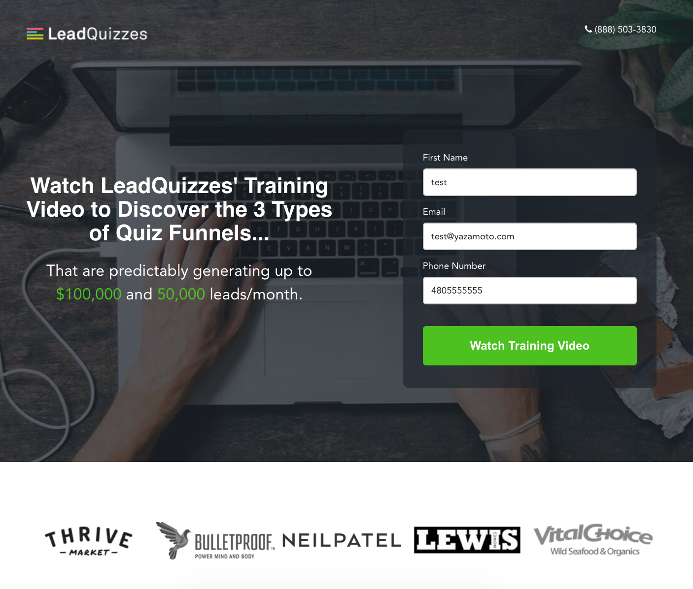 LeadQuizzes Landing Page The 3 Types of Quiz Funnels