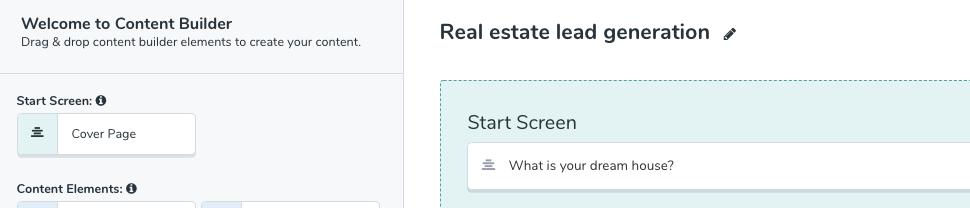 Real estate lead generation quiz