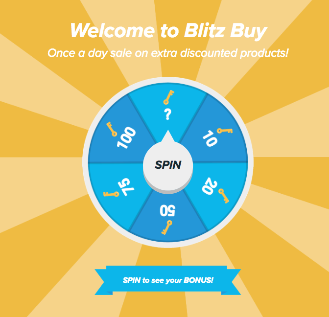 Gamification examples on Wish