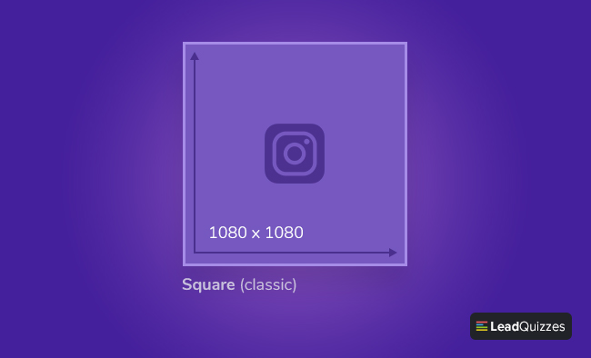 Instagram post size Square