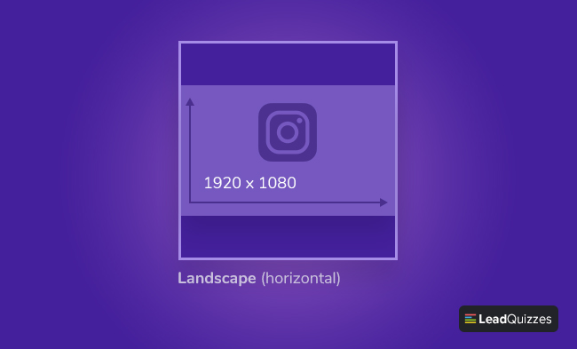 Instagram post size Horizontal