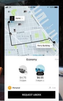 Uber cab request