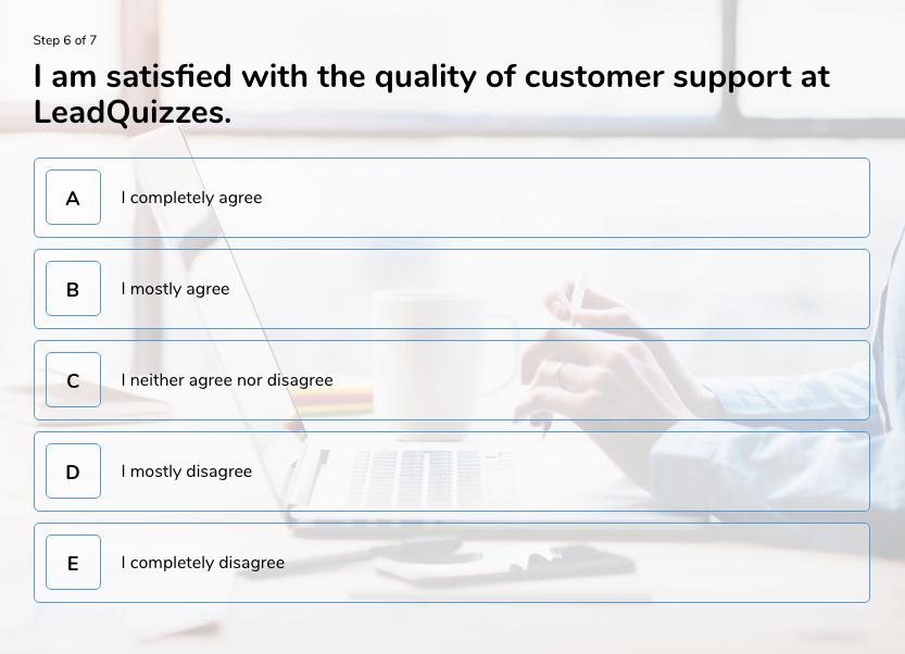 survey question example