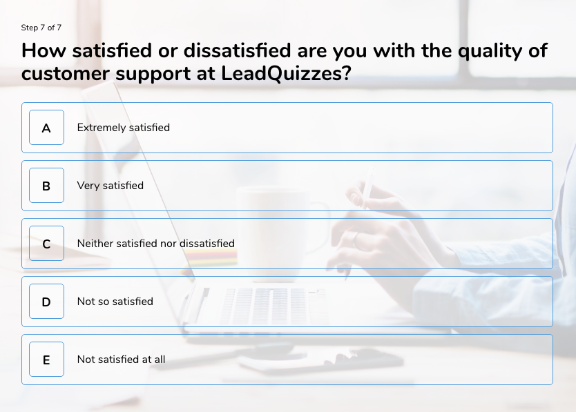 survey question example 2