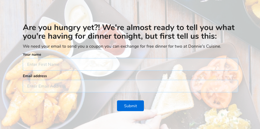 restaurant marketing quiz