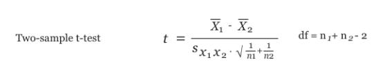 t-statistic equation