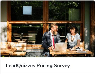 LeadQuizzes Pricing Survey