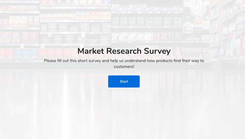 Market research survey