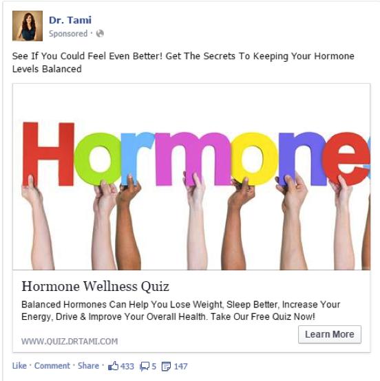 Dr Tami Hormone Facebook Quiz