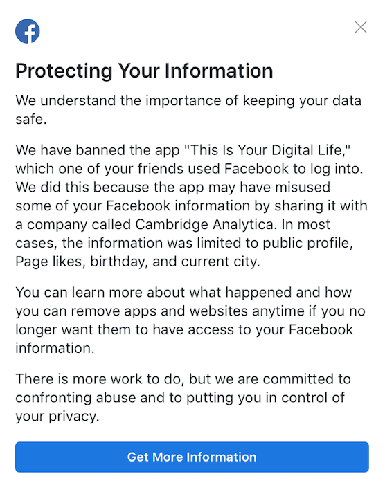Facebook Cambridge Analytica This Is Your Digital Life Scandal