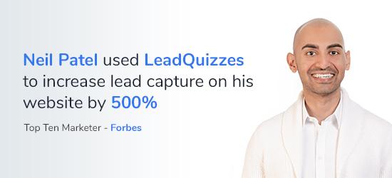 Neil Patel LeadQuizzes
