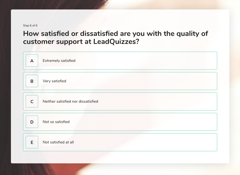 Likert Scale Question 6