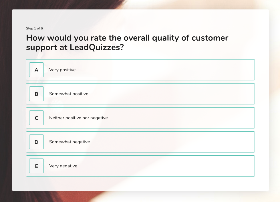 Likert Scale Question 1