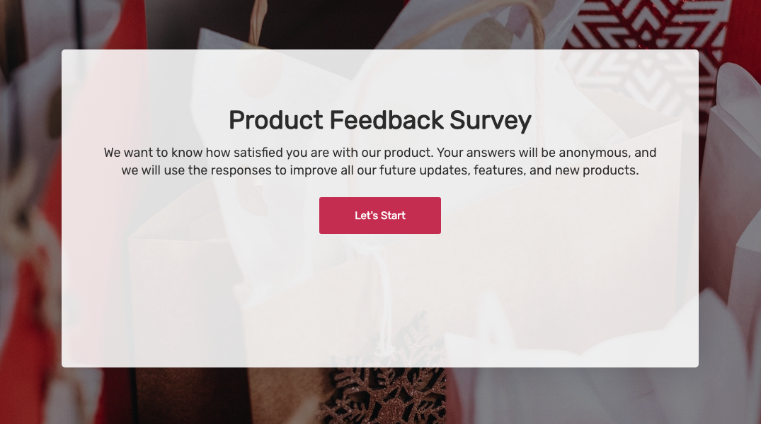 product feedback survey