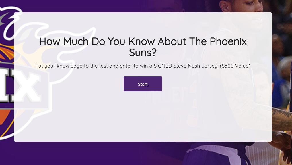 Survey Incentives - Phoenix Suns