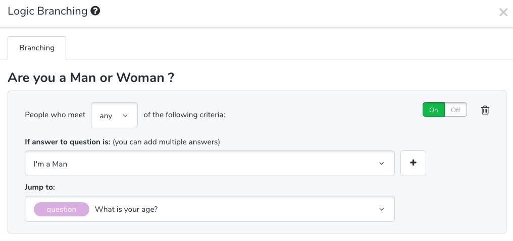 Google Forms alternative - logic branching