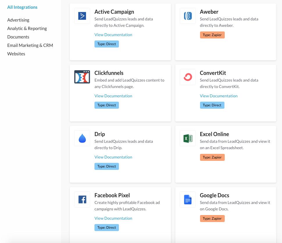 Google Forms alternative - integrations