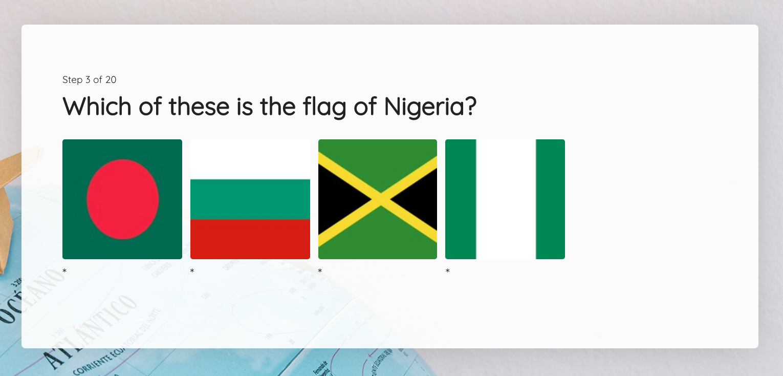 Image Quiz Answer Options
