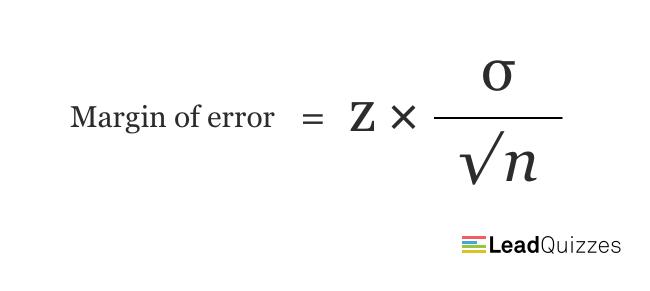 Margin of error formula 1