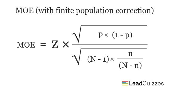 Margin of error formula 2
