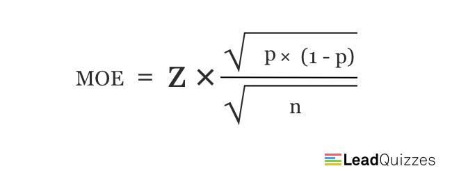Margin of error formula