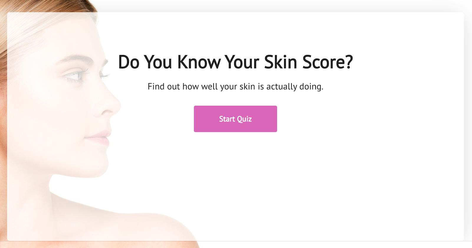Skin Score quiz