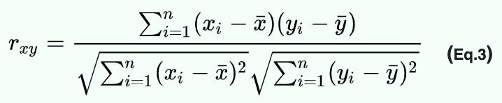 Pearson correlation coefficient formula 2